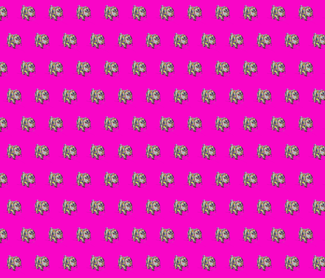 Multicolor Dappled Dachshund Print with Hot Pink Neon Background fabric by theartwerks on Spoonflower - custom fabric
