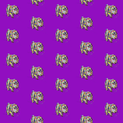 Multicolor Dappled Dachshund Print on Purple