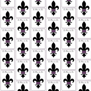 fleur de lis black/purple