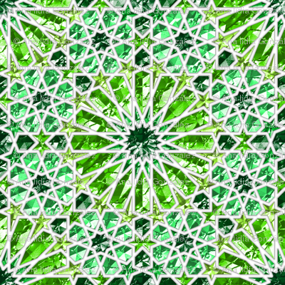 Geometric gemstones (emerald)