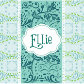 Blue Wave Chantilly Ocean  Vintage Lace Personalized-ELLIE
