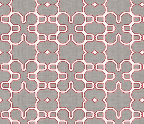 red_lined_mosaic_dark fabric by holli_zollinger on Spoonflower - custom fabric