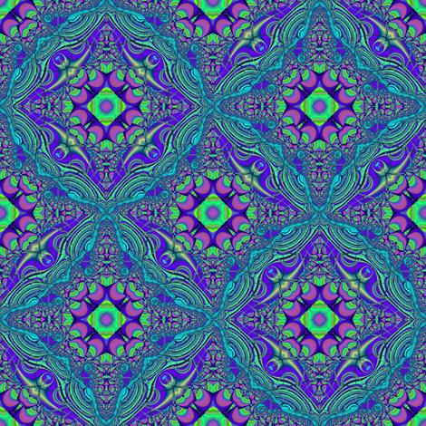 Purple Crescents and Aqua Lace