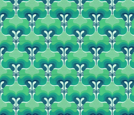 vintage splash navy fabric by myracle on Spoonflower - custom fabric