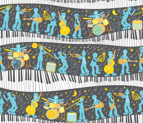 Moonlight Jazzers fabric by christinewitte on Spoonflower - custom fabric