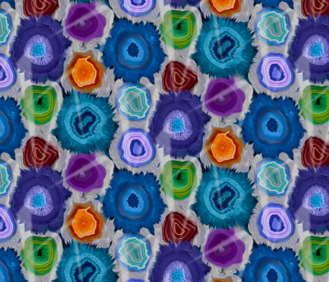 Agate flowers fabric by nlsd on Spoonflower - custom fabric