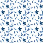 Feather Rain Sparrow Indigo
