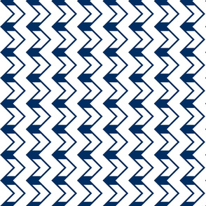Nested chevrons navy - white