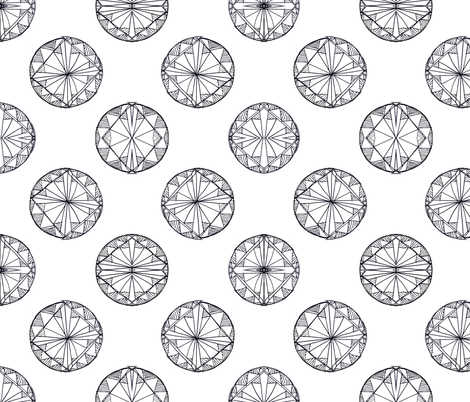 Gem Sketch fabric by msbrown on Spoonflower - custom fabric
