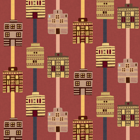 Minoan house stripes incl gray fabric by su_g on Spoonflower - custom fabric