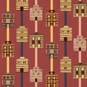 Minoan house stripes incl gray