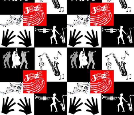 All That Jazz fabric by charldia on Spoonflower - custom fabric