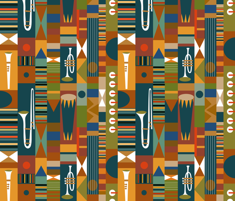 Kente Jazz fabric by vo_aka_virginiao on Spoonflower - custom fabric