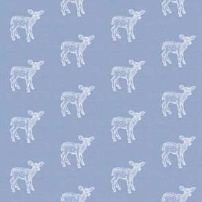 Dear Deer Silver Blue Linen