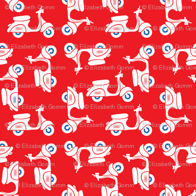 Scooters on red