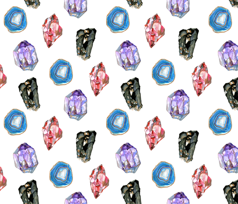 Gemstones-Large fabric by claybak on Spoonflower - custom fabric