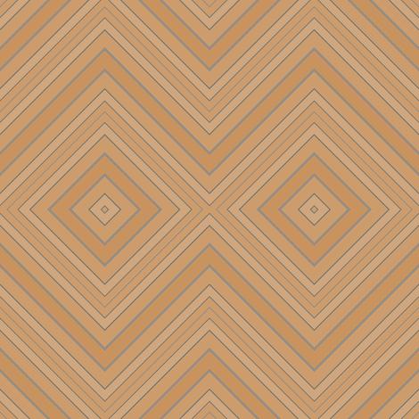Tan Brown Diamond Geometric © Gingezel™