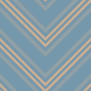 Pool Blue Chevron Large © Gingezel™