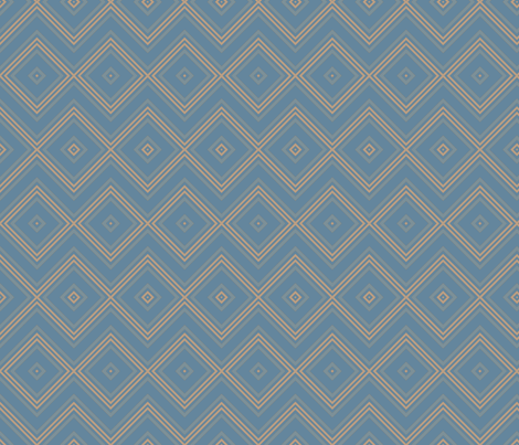 Blue Diamond Geometric © Gingezel™