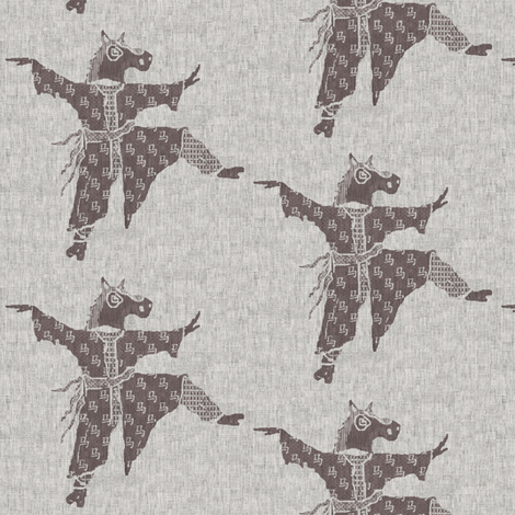 Horse Dancer - taupe, beige, off white Year of the horse fabric by materialsgirl on Spoonflower - custom fabric