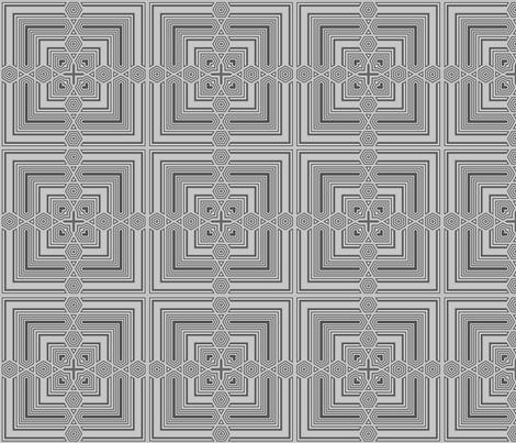 Grey Deco Squares 3 © Gingezel™