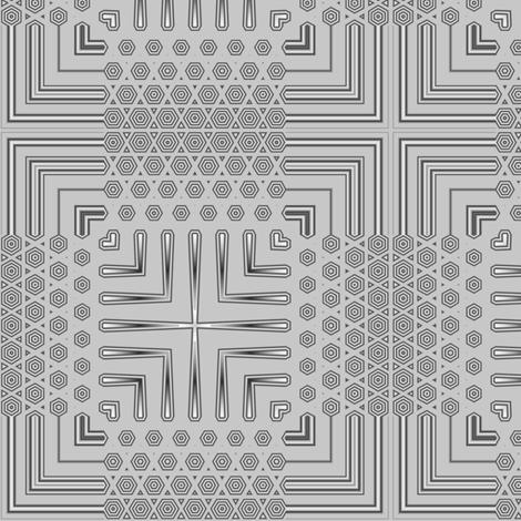 Gray Deco Squares 1 © Gingezel™