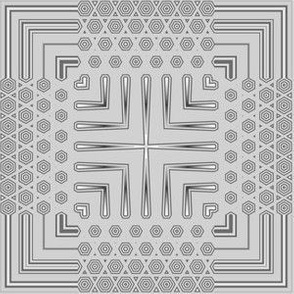 Gray Deco Squares 1 © Gingezel™