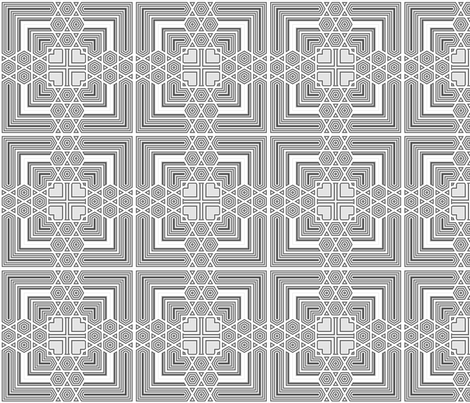 Gray Deco Squares 2 © Gingezel™