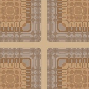 Wheat Colored Tiled Geometric © Gingezel™