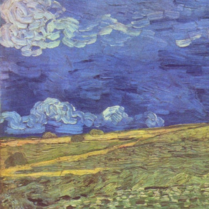 Van Gogh - Wheat Field Under Clouded Sky (1890)