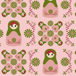 Cute Nesting Dolls - Pink