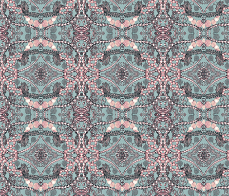 pretty in pink fabric by kociara on Spoonflower - custom fabric