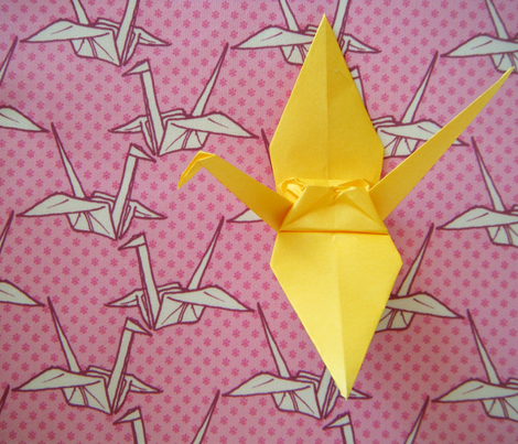 Paper Crane - Pink