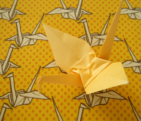Paper Crane - Yellow