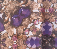 jewels set in bronze