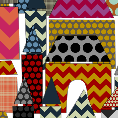 geo town fabric by scrummy on Spoonflower - custom fabric