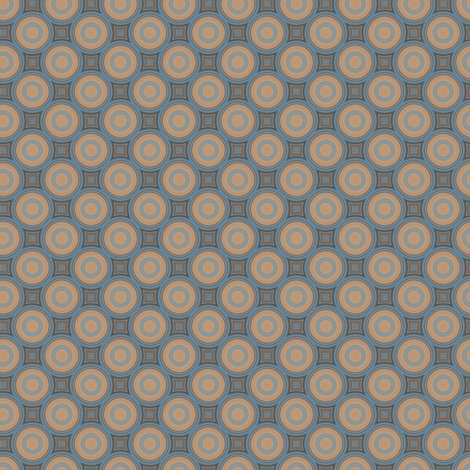 Beige Blue Brown Circles © Gingezel™