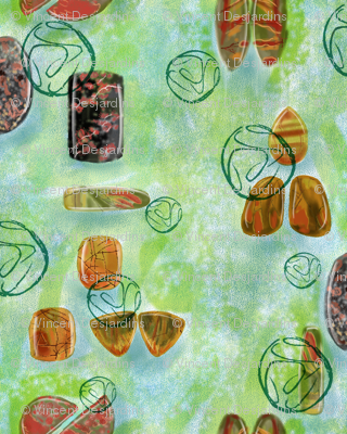 Gemstones on Green