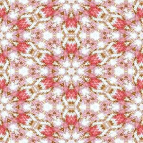 Patchwork:Peachy- Pink Snowflakes