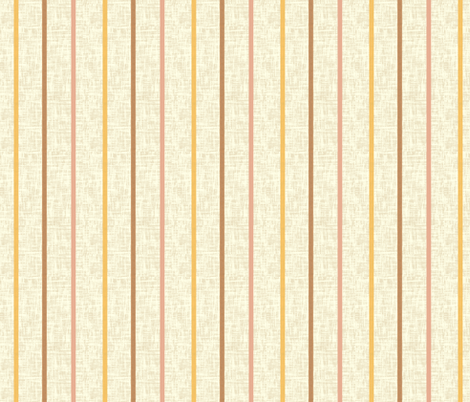 Minoan stripe 3 on milk cream linen weave
