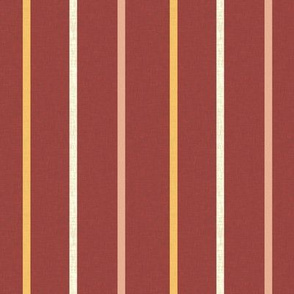 Minoan stripe 1 on Egyptian red