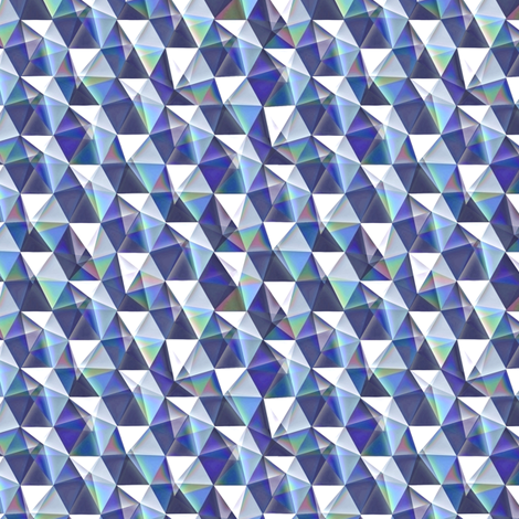 tanzanite crystals fabric by weavingmajor on Spoonflower - custom fabric