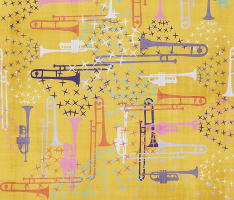 Spring Jazz - 7 fabric by owlandchickadee on Spoonflower - custom fabric