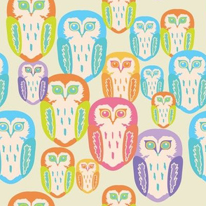 Multi + Colour + Owls