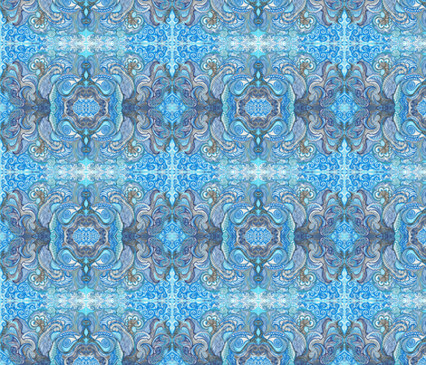BLU fabric by tamaraswhimsey on Spoonflower - custom fabric
