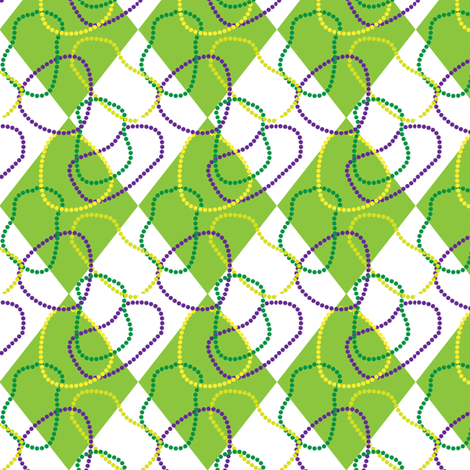 Mardi Gras Diamonds-and-Beads fabric by writefullysew on Spoonflower - custom fabric