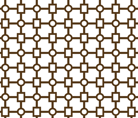 Urban Trellis in Cocoa fabric by sparrowsong on Spoonflower - custom fabric