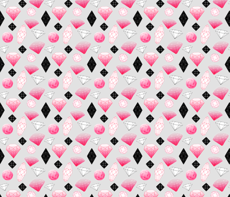 Gemstones fabric by oohoo on Spoonflower - custom fabric