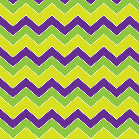 MardiGras-Chevron fabric by writefullysew on Spoonflower - custom fabric