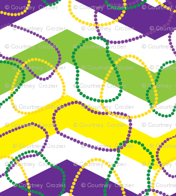 Mardi Gras Chevron-and-Beads
